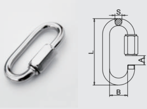 Stainless steel 304L/316L Quick Link Climbing safety equipment