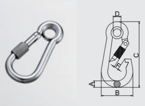 AISI304,AISI316 Snap Hook With Eyelet And Nut_Tensile Strength Test passed