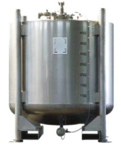 Stainless steel storage tank for chemicals, food