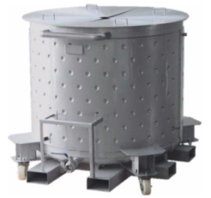 paint storage stainless steel Tank with casters