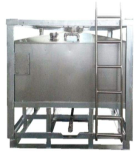 stainless steel tank with manway and heating tube